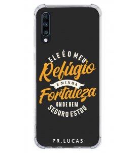 Capinha de celular (tpu premium) - Pastor Lucas 10 - Ele é meu refúgio e minha fortaleza