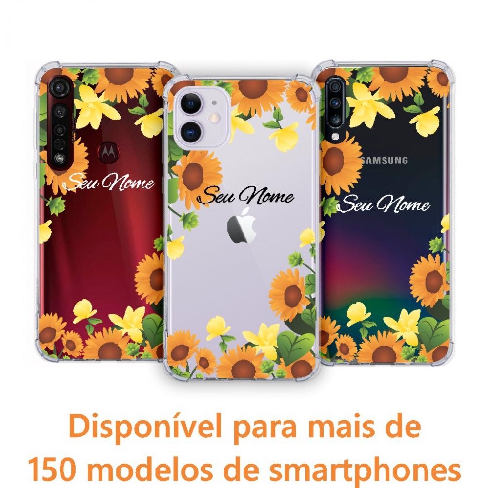 Capinha para celular - Personalizada com nome - Girassol 02