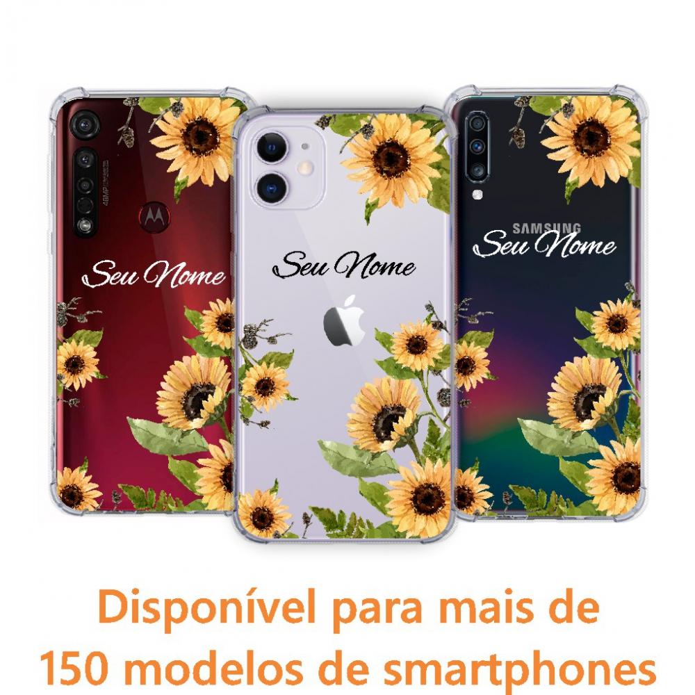 Capinha para celular - Personalizada com nome - Girassol 04