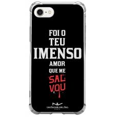 Capinha para celular - Novidade de Vida 01 - Foi Teu Imenso Amor Que Me Salvou