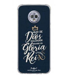 Capinha de celular (tpu premium) - Novidade de Vida 05 - Hijo De Dios Salvador Grande En Gloria Eterno Rei