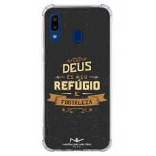 Capinha para celular - Novidade de Vida 03 - Deus És Meu Refúgio e Fortaleza