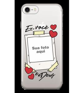 Capinha de celular (tpu premium) - Namorados 04 - Eu Você e Deus