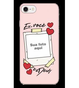 Capinha de celular (tpu premium) - Namorados 05 - Eu Você e Deus