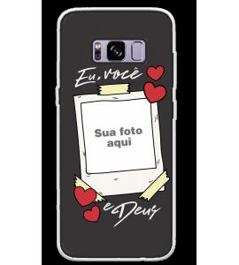 Capinha de celular (tpu premium) - Namorados 06 - Eu Você e Deus