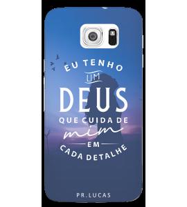 Capinha de celular (tpu premium) - Pastor Lucas 12 - Eu tenho um Deus que cuida de mim