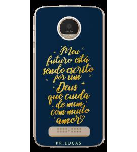 Capinha de celular (tpu premium) - Pastor Lucas 04 - Meu futuro está sendo escrito por um Deus