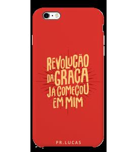 Capinha de celular (tpu premium)  - Pastor Lucas 09 - Revolução da Graça já começou em mim