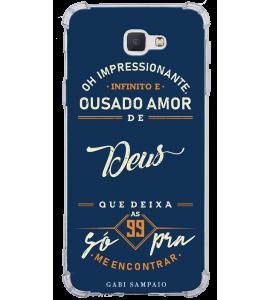 Capinha de celular - 1 Gabi Sampaio 08 - Oh Impressionante infinito e ousado amor de Deus
