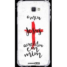 Capinha para celular - JUNINHO BLACK 04 - O MEU JESUS ACREDITOU EM MIM