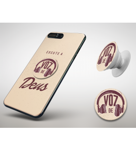 KIT CAPINHA + POPSOCKET - Esther Marcos 01 - Escute a Voz de Deus