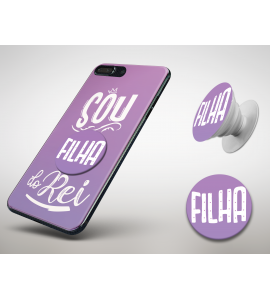 KIT CAPINHA + POPSOCKET - Esther Marcos 09 - Sou filha do Rei