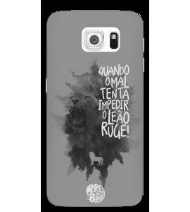 Capinha de celular - Preto no Branco 02 - Quando o mal tenta impedir, o leão ruge!
