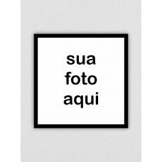 Quadro com Foto - 20x20cm - Borda preta normal