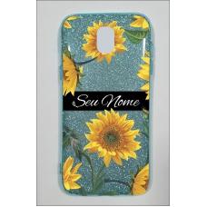 Capinha para celular Glitter Azul Sunflower 5