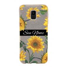 Capinha para celular Glitter Dourada Sunflower 5