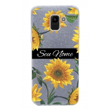 Capinha para celular Glitter Prateada Sunflower 5
