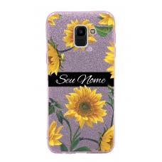 Capinha para celular Glitter Rosa Sunflower 5