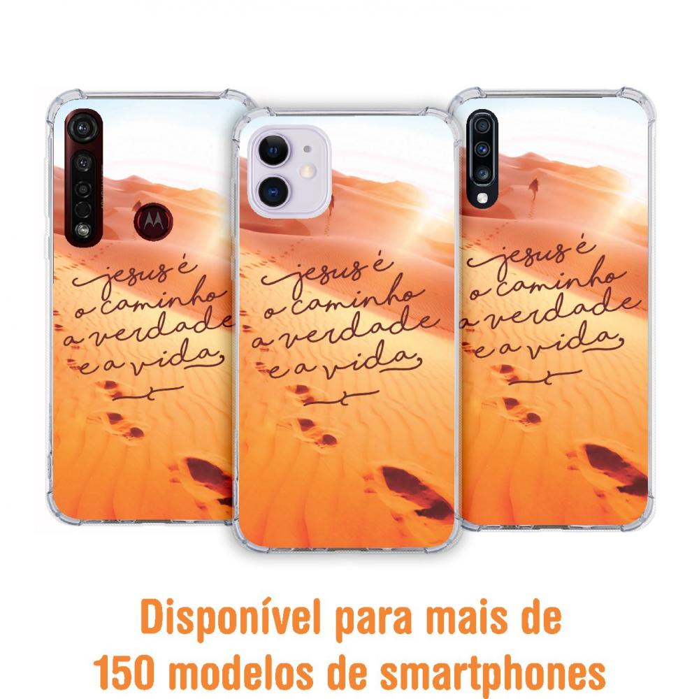 Capinha para celular - Gospel 13 - Jesus é o caminho, a verdade e a vida