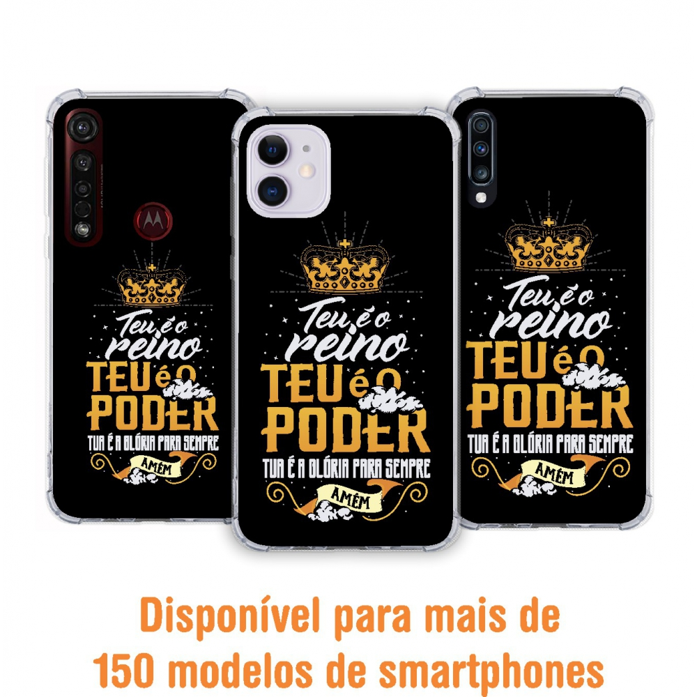 Capinha para celular - Gospel 164 - Teu é o Reino. Teu é o Poder.