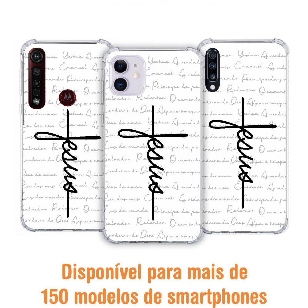 Capinha para celular - GOSPEL 187 - Capinha Jesus estilo cruz
