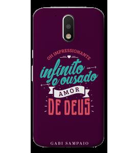 Capinha de celular (linha premium) - Gabi Sampaio 10 - Oh impressionante infinito e ousado amor de Deus