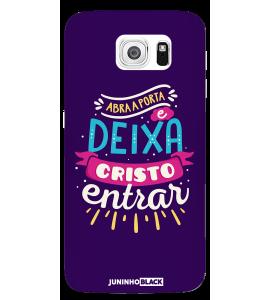 Capinha de celular (tpu premium) - JUNINHO BLACK 01 - ABRA A PORTA E DEIXA CRISTO ENTRAR