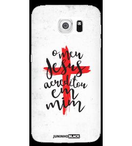 Capinha de celular (tpu premium) - JUNINHO BLACK 04 - O MEU JESUS ACREDITOU EM MIM