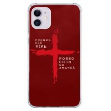 Capinha para celular - GOSPEL 178 - Porque ele vive. Posso crer no amanhã