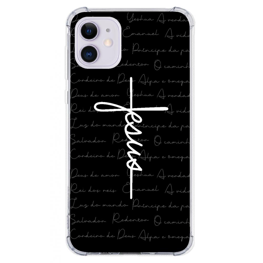 Capinha para celular - GOSPEL 186 - Capinha Jesus estilo cruz