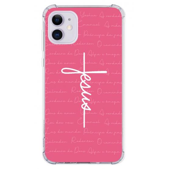 Capinha para celular - GOSPEL 188 - Capinha Jesus estilo cruz